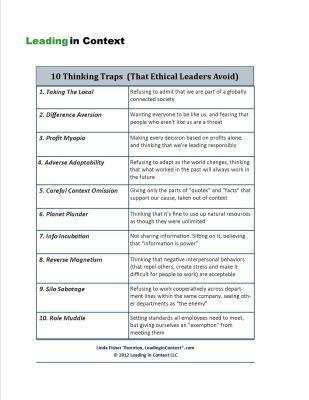 10 Thinking Traps (That Ethical Leaders Avoid) | Coaching and Leadership | Scoop.it