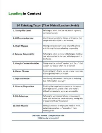 10 Thinking Traps (That Ethical Leaders Avoid) | Coaching Leaders | Scoop.it