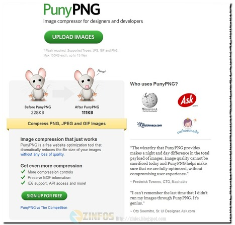 PunyPNG - Réduire la taille des PNG, JPEG et gif sans perte de qualité | Time to Learn | Scoop.it