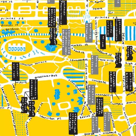 edinburgh arts festival map by hannah waldron - Designboom | Mu life in Finland | Scoop.it