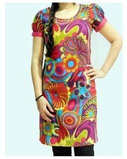 Multiprinted Puff Sleeves Kurti | EdayGarments- Buy Dresses, skirts, tops, Tunics | Scoop.it