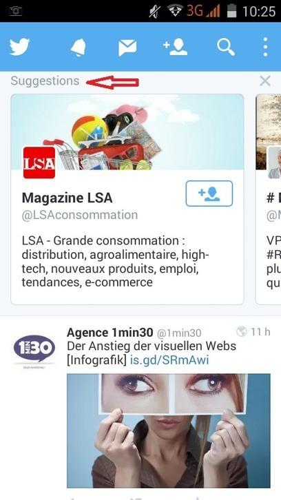 Twitter mobile lance les Suggestions de profils dans la Timeline - Arobasenet.com | Geeks | Scoop.it