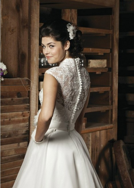 Flower Delicated Ankle-Length A-Line Organza Bridal Wedding Dress | Fashion Dresses | Scoop.it