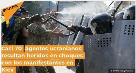 Poroshenko califica de antiucranianos disturbios frente a Rada - Yatseniuk exige duro castigo para el nuevo MAIDAN | La R-Evolución de ARMAK | Scoop.it