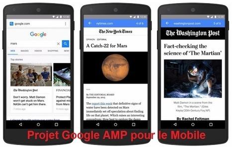 Google confirme le lancement des Pages AMP début 2016 - Arobasenet.com | Référencement internet | Scoop.it