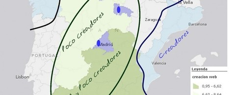 Mapa de regiones creadoras de contenido en Internet | orbemapa | Sistemas de Información Geográfica | Scoop.it