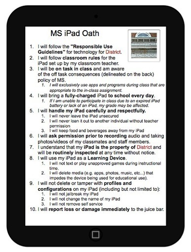Excellent Classroom Poster Featuring 10 iPad Usage Rules | Everything iPads | Scoop.it