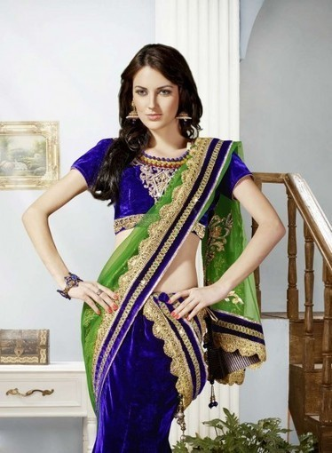 Lehnga Choli In Green with Stone,Resham,Embroidery. Shop online with smile   Bridal Lehengas   Scoop.it