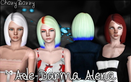 Ade-Darma Alena hairstyle retextured by Chazy Bazzy | Sims 3 Downloads | Scoop.it