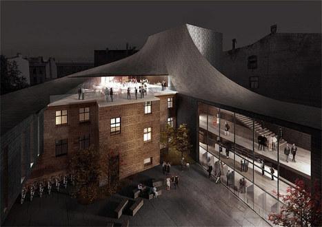 NRJA + IG kurbads: new riga theatre competition proposal - designboom | architecture & design magazine | theatre architecture | Scoop.it