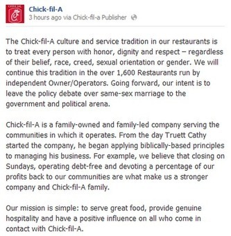 Chick-Fil-A Tries To Walk It Back   Daily Crew   Scoop.it