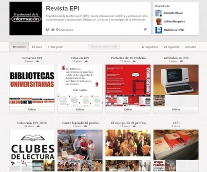 El profesional de la información » Blog Archive » EPI en Pinterest | Món bibliotecari i documentalista | Scoop.it