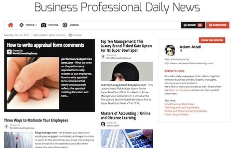 Nov 24 - Business Professional Daily News is out | Business Futures | Scoop.it