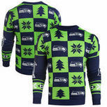 Seattle Seahawks Klew Patches Ugly Sweater - College Navy | Seattle Sports Teams | Scoop.it