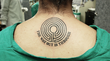 Amazing Maze Tattoo - The Way Out is Through   Black Poison Tattoos   Scoop.it