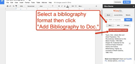 How to Create a Bibliography in Google Documents | Time to Learn | Scoop.it