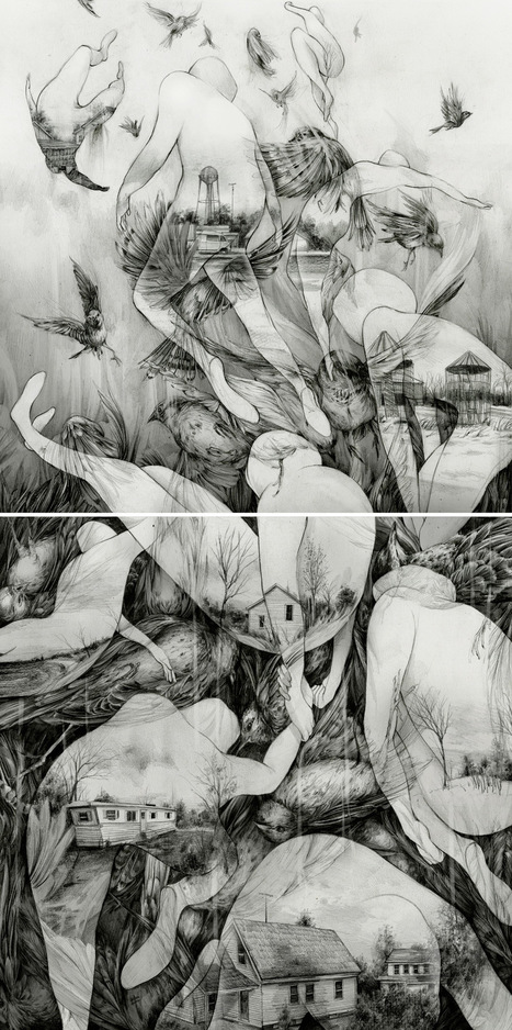 Visually Arresting New #Sketchbook Spreads and #Drawings by Pat Perry #art | Luby Art | Scoop.it