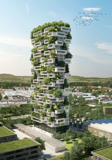 384ft-Tall Apartment Tower To Be World's First Building Covered In Evergreen Trees | LBM | Scoop.it