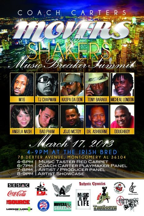 Coach Carter's Movers & Shakers Music Breakers Summit....... | GetAtMe | Scoop.it