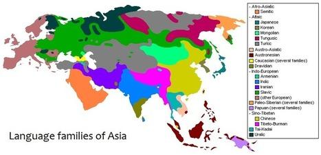 Language_families_of_Asia.png (841x407 pixels) | Linguistics | Scoop.it
