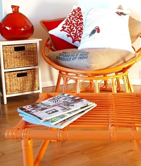 How to: Upcycled cane furniture | Designer Cushions | Scoop.it
