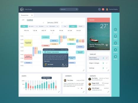 UI/UX Works by Tubik Studio | Réseaux sociaux | Scoop.it