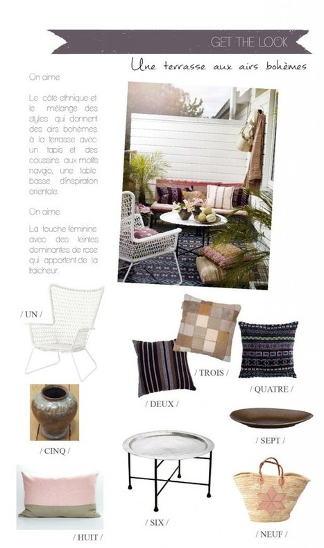 { Get the look } Une terrasse aux airs bohèmes | décoration & déco | Scoop.it