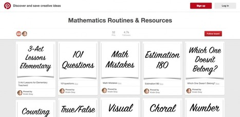 Looking For Math Resources? Kristin Gray Has a Pinterest Board For You | Cool School Ideas | Scoop.it