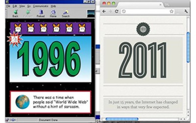 Internet of Yesterday & Today: 1996 vs. 2011 [INFOGRAPHIC] | Beyond Web and Marketing 3.0 | Scoop.it