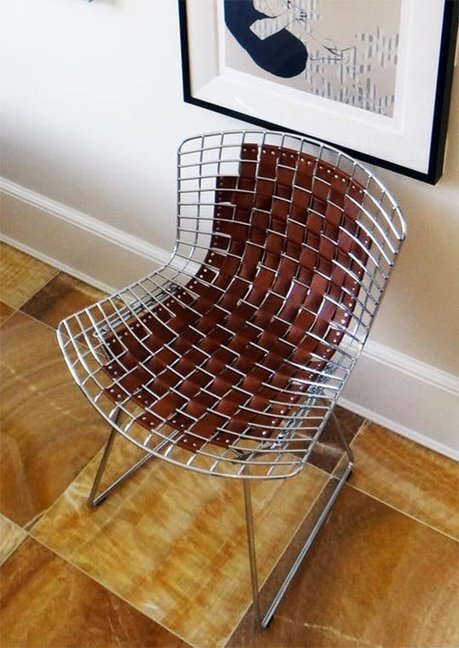 How To DIY the Leather Bertoia Chair Hack from @Darlene_Molnar | #Technology | Scoop.it