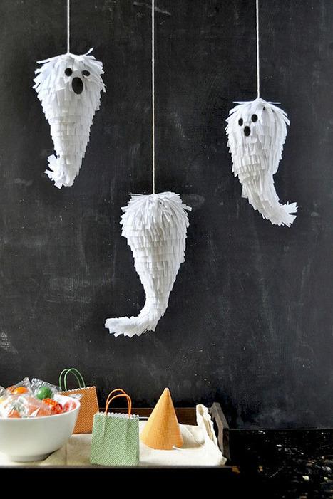 Mini Ghost Piñatas DIY | Fiestas & Fêtes pour les petits | Scoop.it
