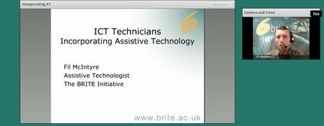BRITE Initiative Webinar - Assistive Technology Advice for IT Technicians | Inclusive eLearning | Scoop.it