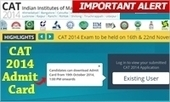 Download CAT 2014 Admit card form Oct 19: check your details carefully to ensure your participation | All About MBA | Scoop.it