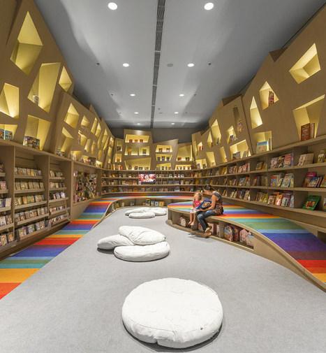 Rainbow bibliothèque par Arthur Casas Designs - Blog Esprit Design | Bibliothèques en évolution | Scoop.it