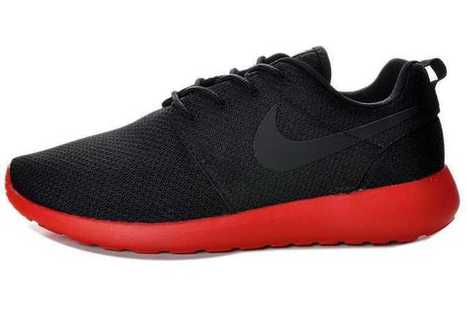 Classic UK Nike Roshe Run Office Mesh Mens Black Red Cheap Outlet Locations | Nike Roshe Run Black And White | Scoop.it