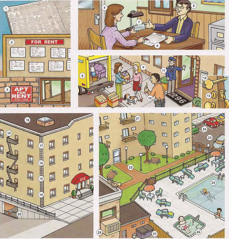 Apartment building vocabulary PDF - Learning English vocabulary and grammar | Multilíngues | Scoop.it