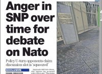 The Herald | Anger in SNP over time for debate on Nato (£0) | RobbieDinwoodie | YES for an Independent Scotland | Scoop.it