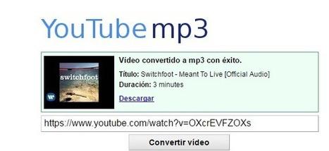 You Tube Mp3: Cómo descargar música y vídeos - 3 pasos - Tecnología Doncomos.com | Educacion, ecologia y TIC | Scoop.it