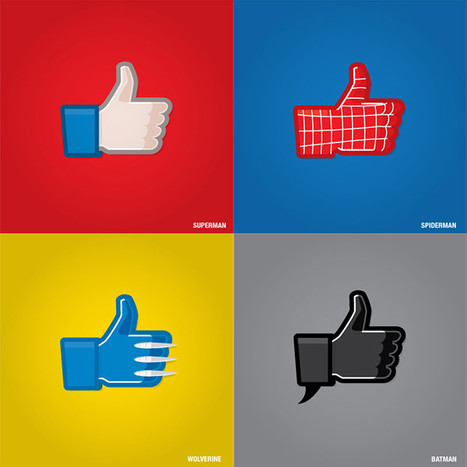 "Superhero Facebook ""Like"" Icons 