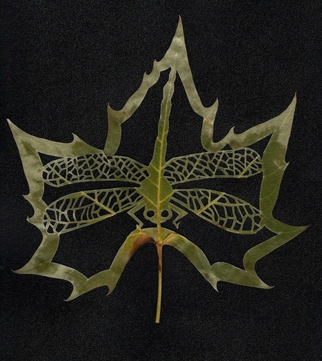New York Botanical Gardens - Leaf art | Nature as a substrate:  art and craftwork | Scoop.it