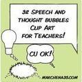 32 Speech and Thought Bubble Clip Art Images - Clipart Commercial Use OK - Marchena35 | Clip Art for Teachers | Scoop.it
