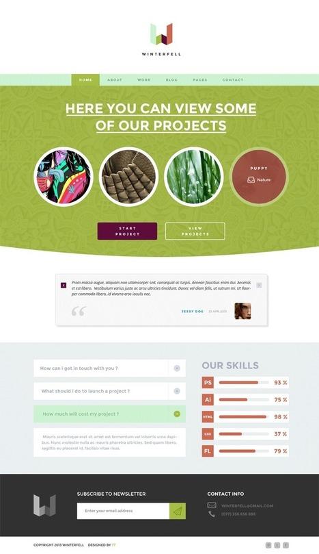 Winterfell - Creative Wordpress Theme | TeslaThemes | Clean WordPress Themes | Scoop.it