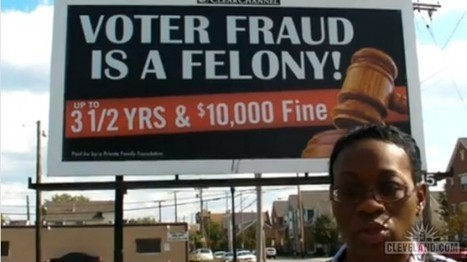 Cleveland Dems Say Anti-Voter Fraud Billboard Is Racist, Discriminates Against Felons… | Littlebytesnews Current Events | Scoop.it