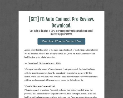 [GET] FB Auto Connect Pro Review. Download. - Tackk | FB Ads Cracked | Scoop.it
