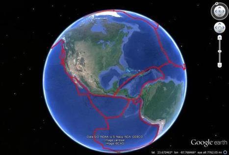 The Topography of Plate Tectonics in Google Earth - Google Earth Blog | Geografía, una ciencia comprometida | Scoop.it