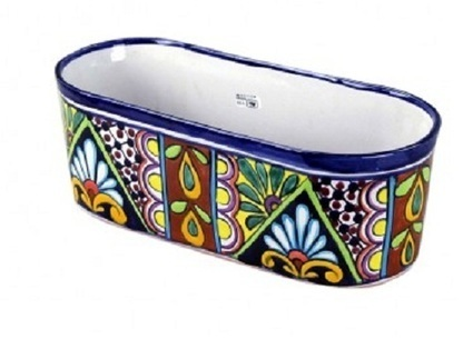 Talavera Oval Flower Pot | Furniture and Pottery | Scoop.it