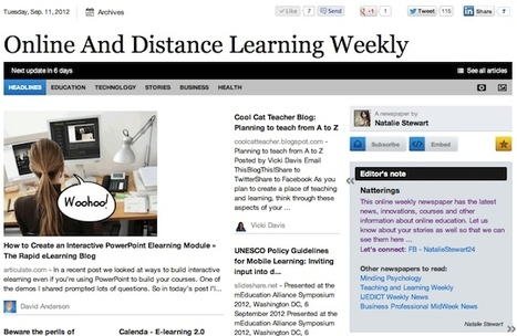 Sept 11 - Online And Distance Learning Weekly | Studying Teaching and Learning | Scoop.it