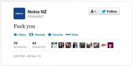 نوكيا تخسر جميع نقاط وسائل الاعلام الاجتماعية بسبب تغريدة 'F*** you' | Cours Informatique | Scoop.it