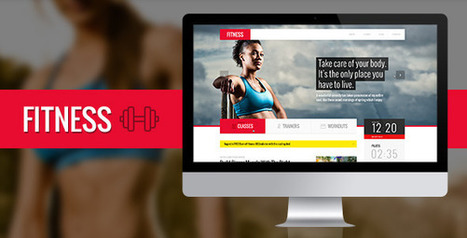 Fitness PSD Template (Health & Beauty) | Best HTML Themes | Scoop.it