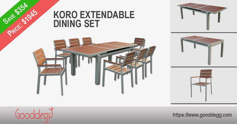 Huge Discount on KORO Extendable Dining Set | Home Decor (Wicker Furniture) | Scoop.it